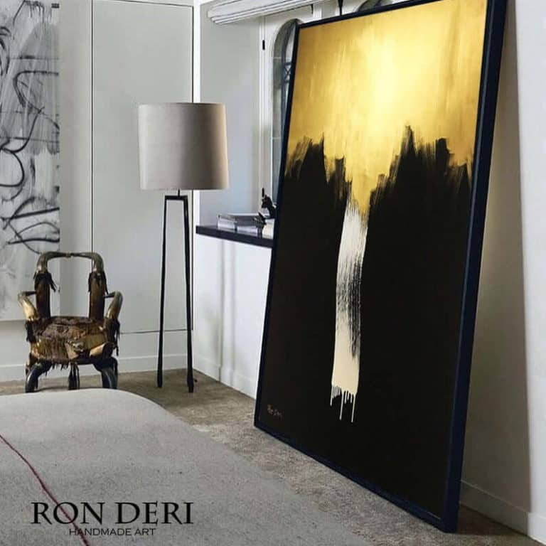 abstract gold large painting by ron deri (2)