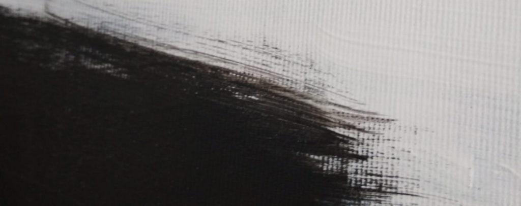 black white art painting minimalism by ron deri 2