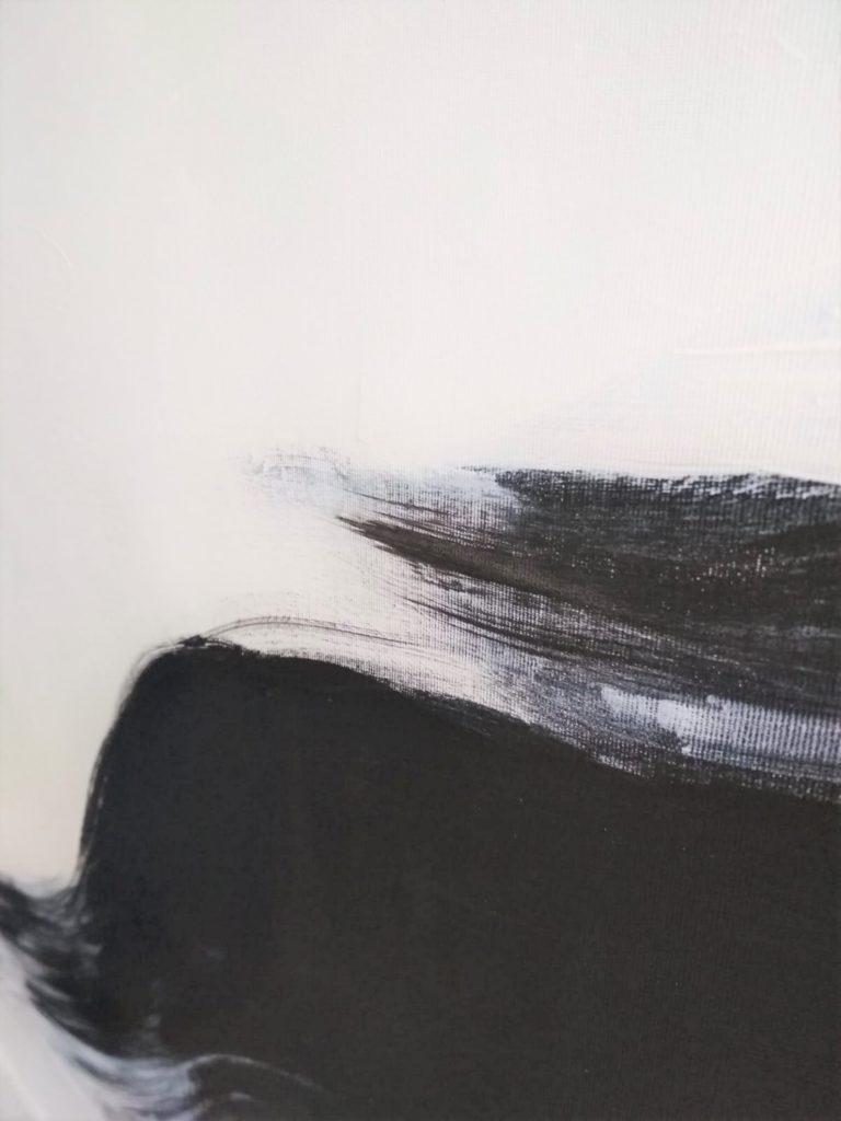 black white art painting minimalism by ron deri 3