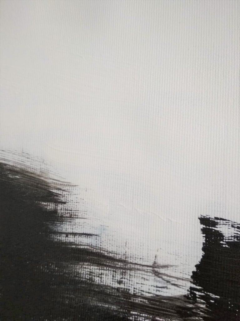 black white art painting minimalism by ron deri