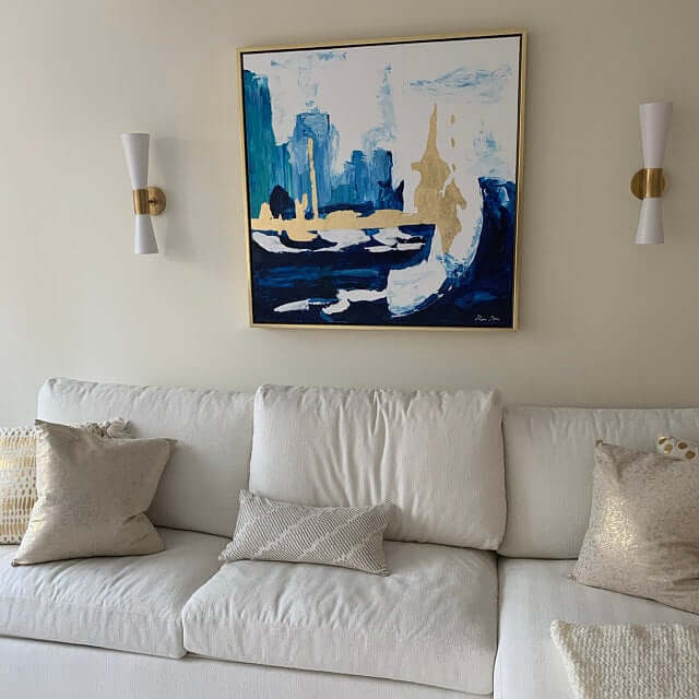 blue_skyline_abstract_painting_gold_lead_art_ron_deri