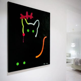 cat-painting-abstract-wall-art