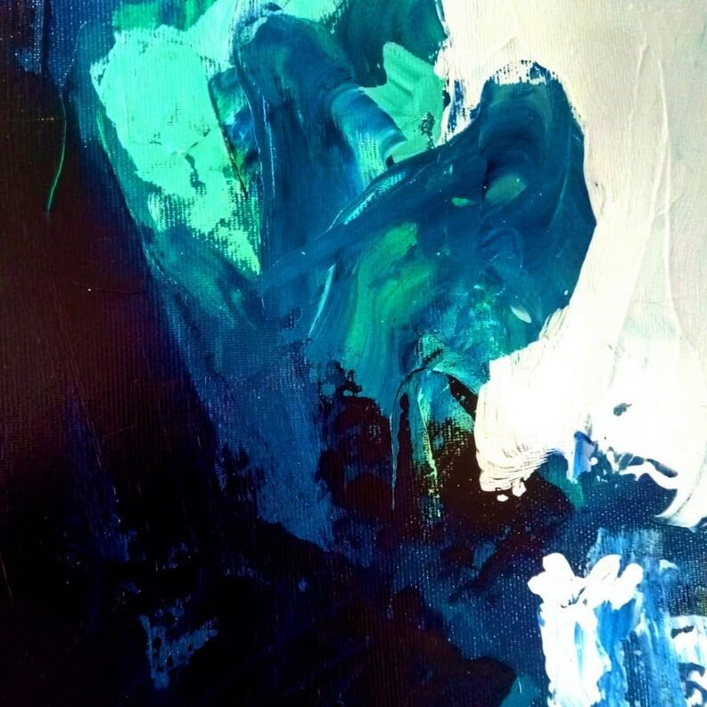 contemporary blue abstract painting gold leaf 6