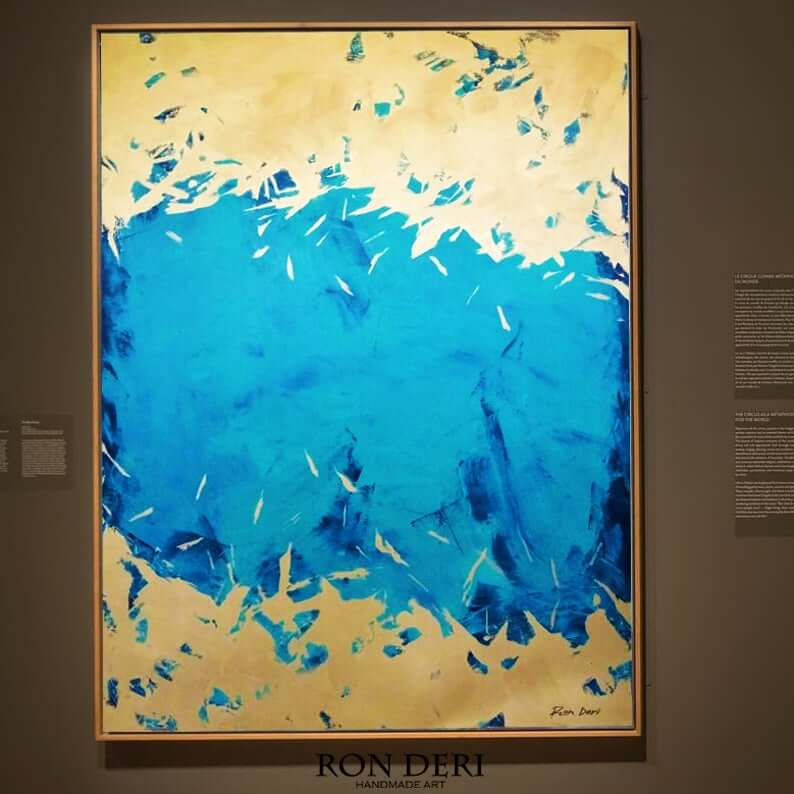 energy blue gold abstract painting by ron deri 7