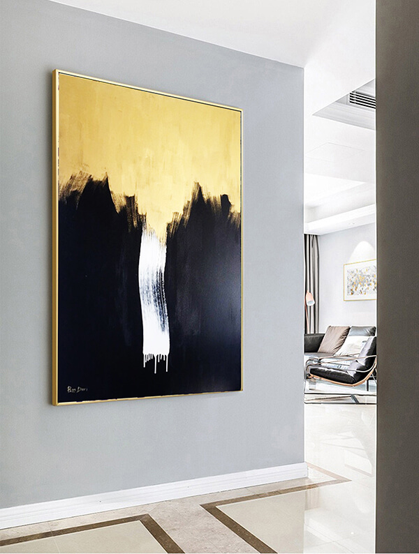 gold-black-abstract-art-painting-canvas-ron-deri