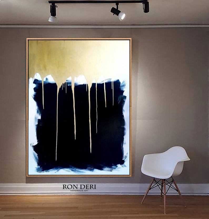 gold-black-abstract-art-painting