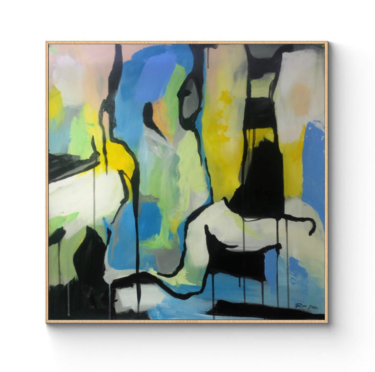 green-blue-black-art-painting-on-canvas-ron-deri