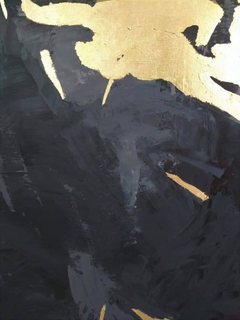 black-gold-abstract-painting