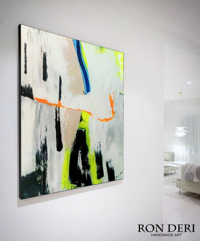 Original abstract painting by ron deri
