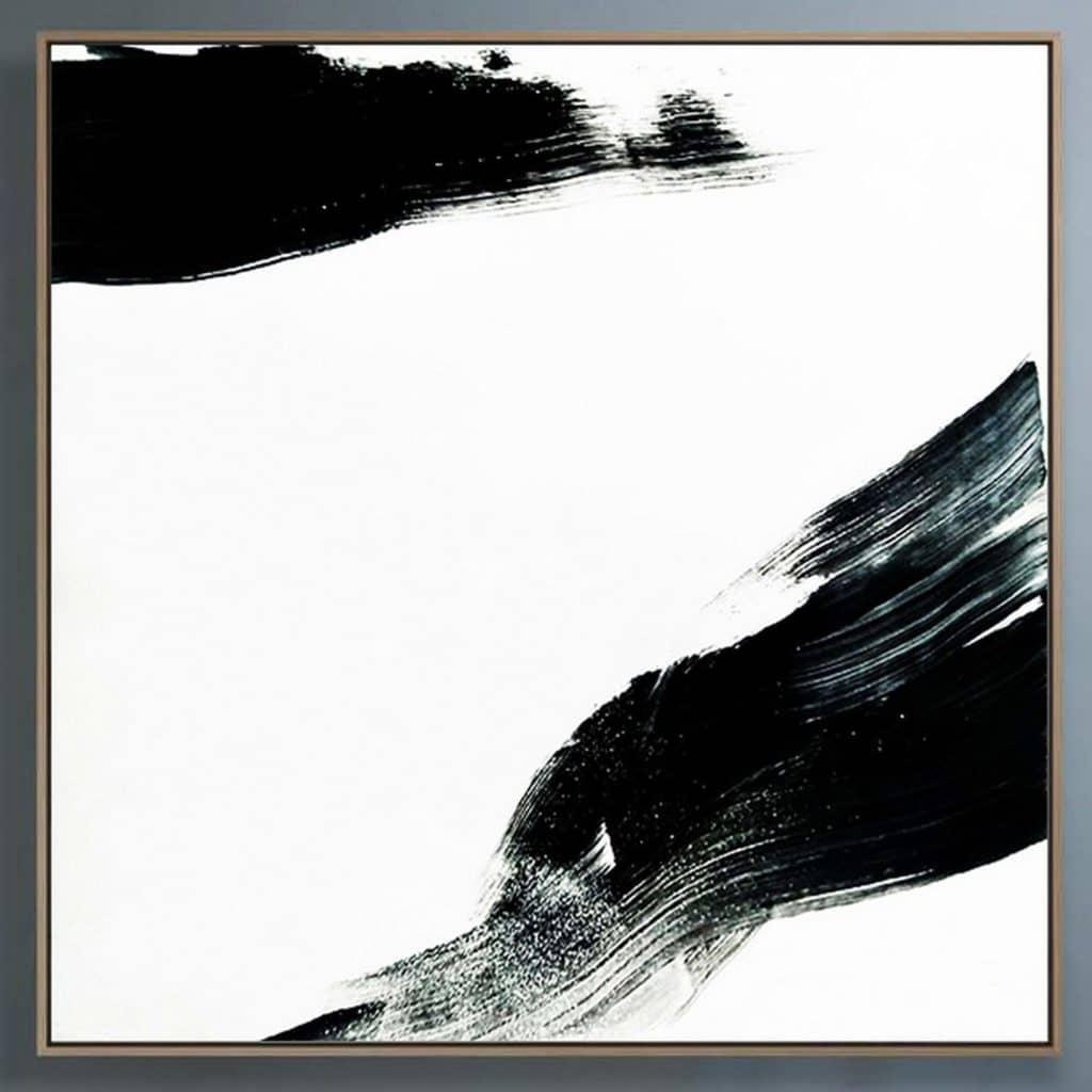 minimalism painting black and white ron deri