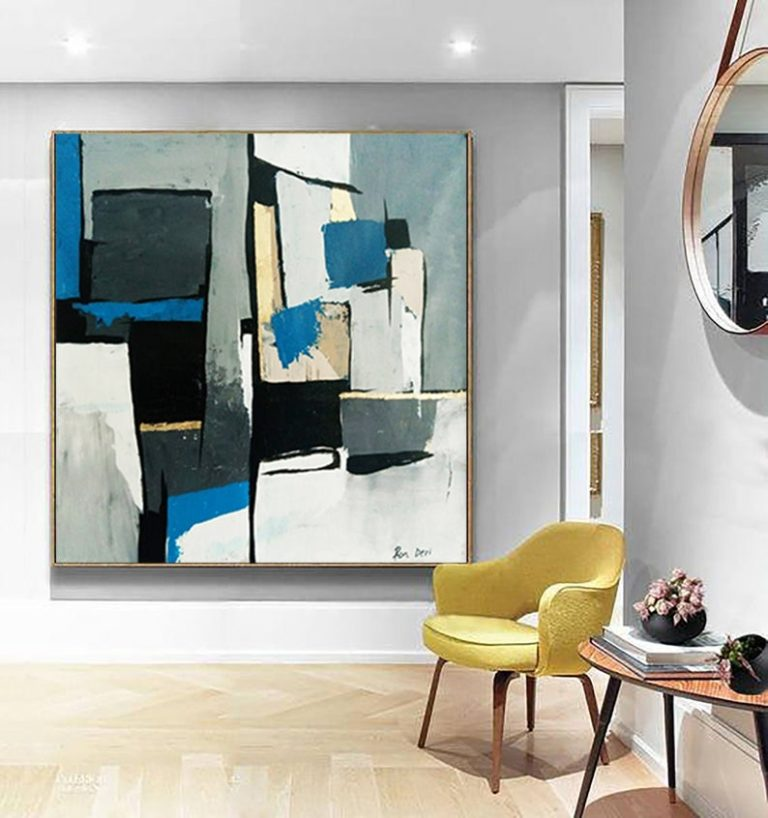 modern-abstract-painting-gray-blue-ron-deri