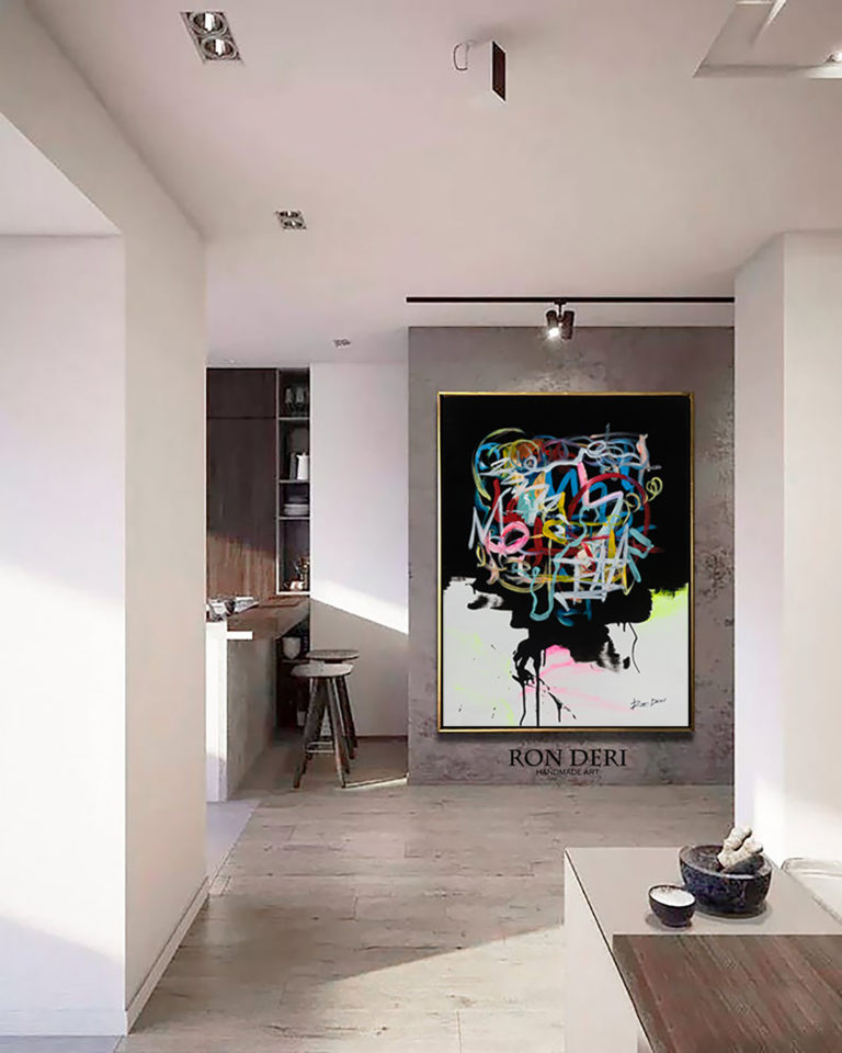 modern-art-painting-black-abstract