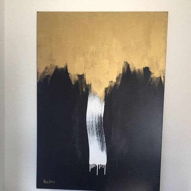 modern painting gold abstract