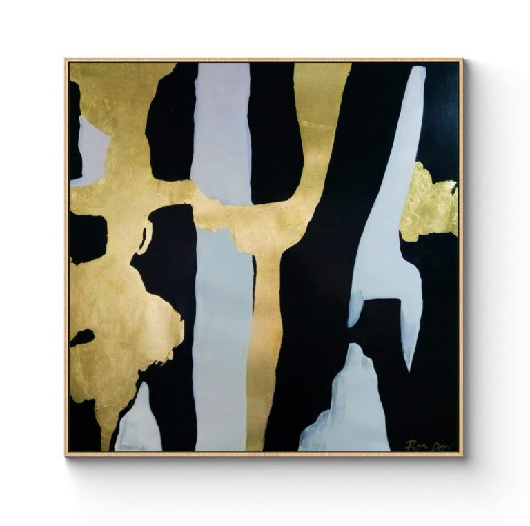 oversize-gold-leaf-painting-abstract-large-wall-art