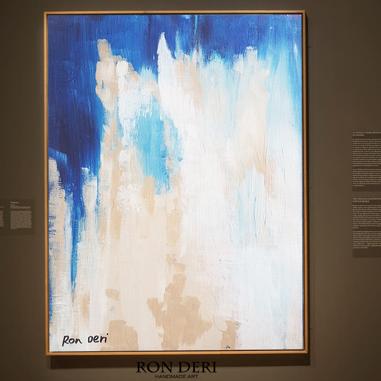 Blue and light abstract painting for sale - Large wall art