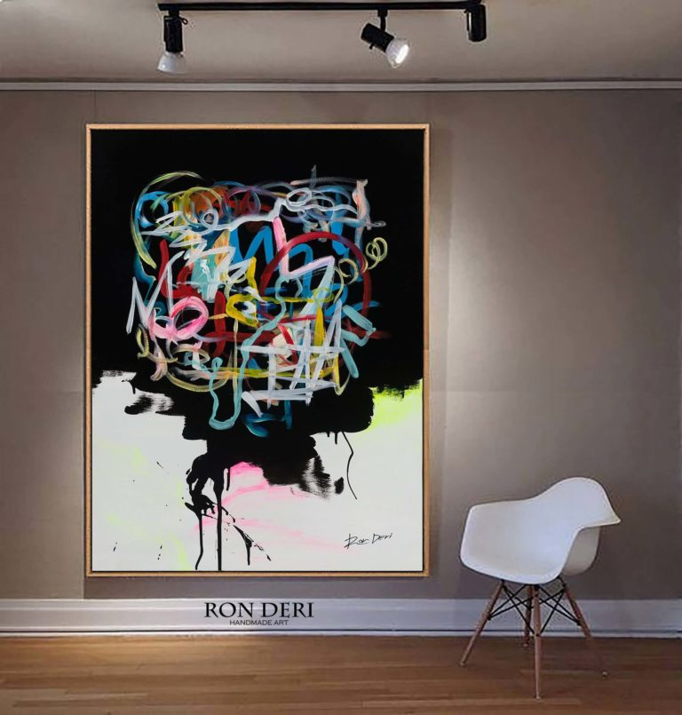 Abstract Brains Painting - by Ron Deri
