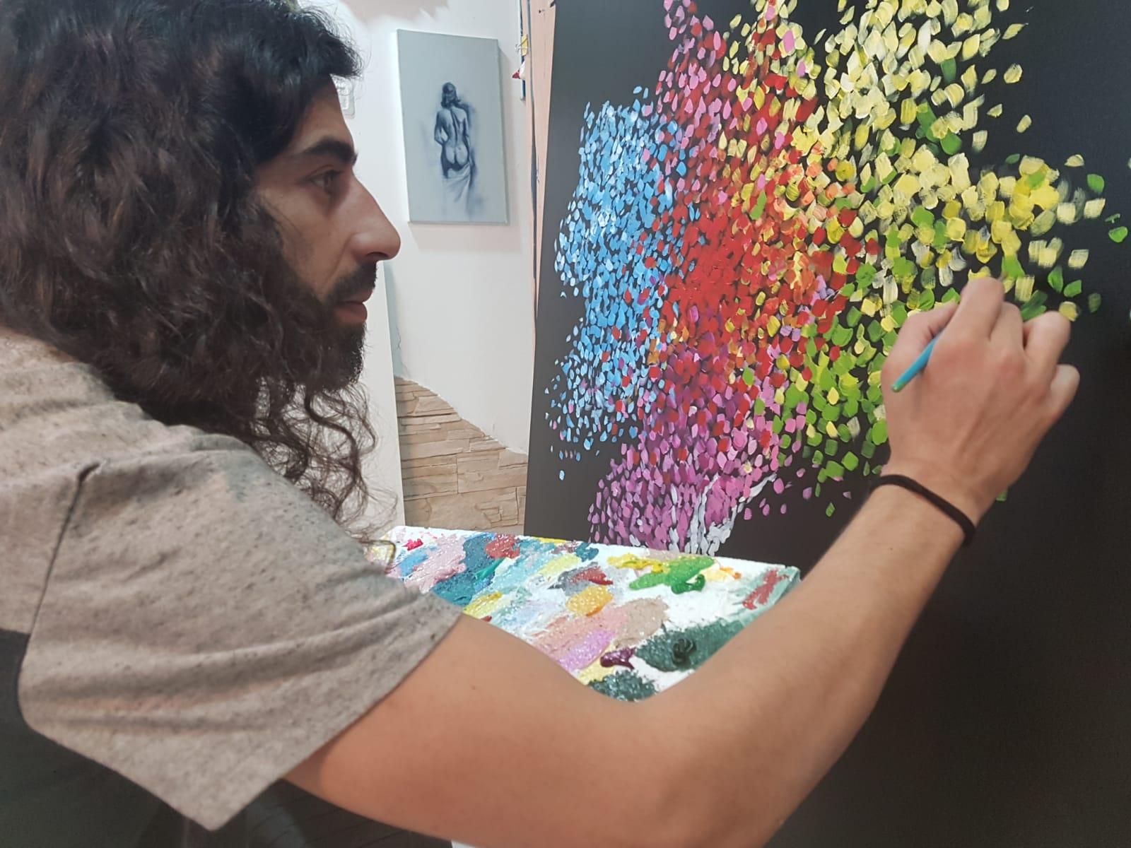 Ron deri - Abstract art creating process