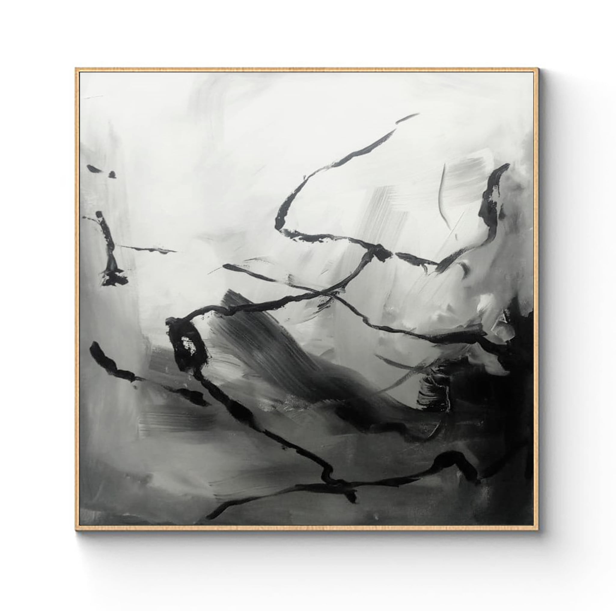 Black and white abstract art by Ron Deri