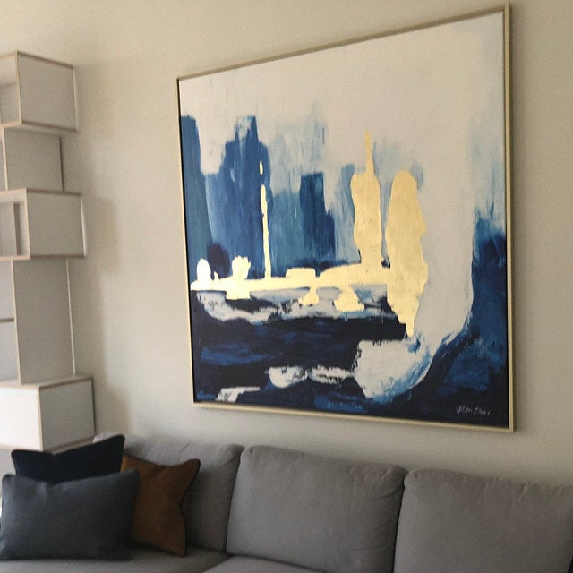 skyline-painting-abstract-gold-blue-ron-deri