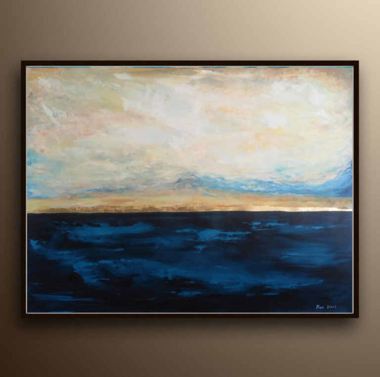sunset-painting-large-abstract-art-ron-deri