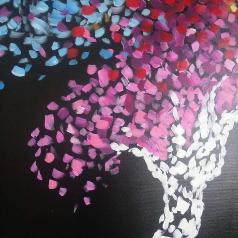 tree painting abstract art acrylic on canvas 7
