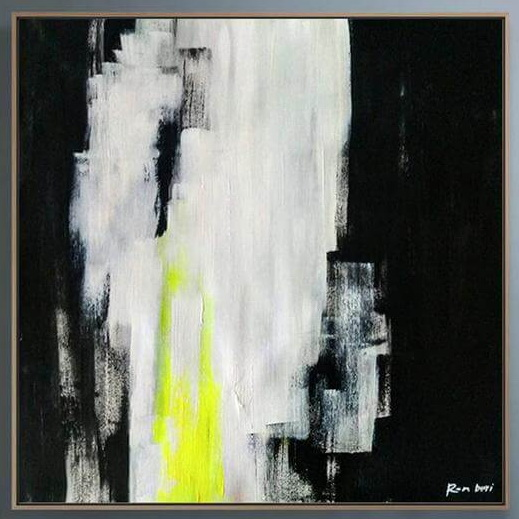 black art painting abstract