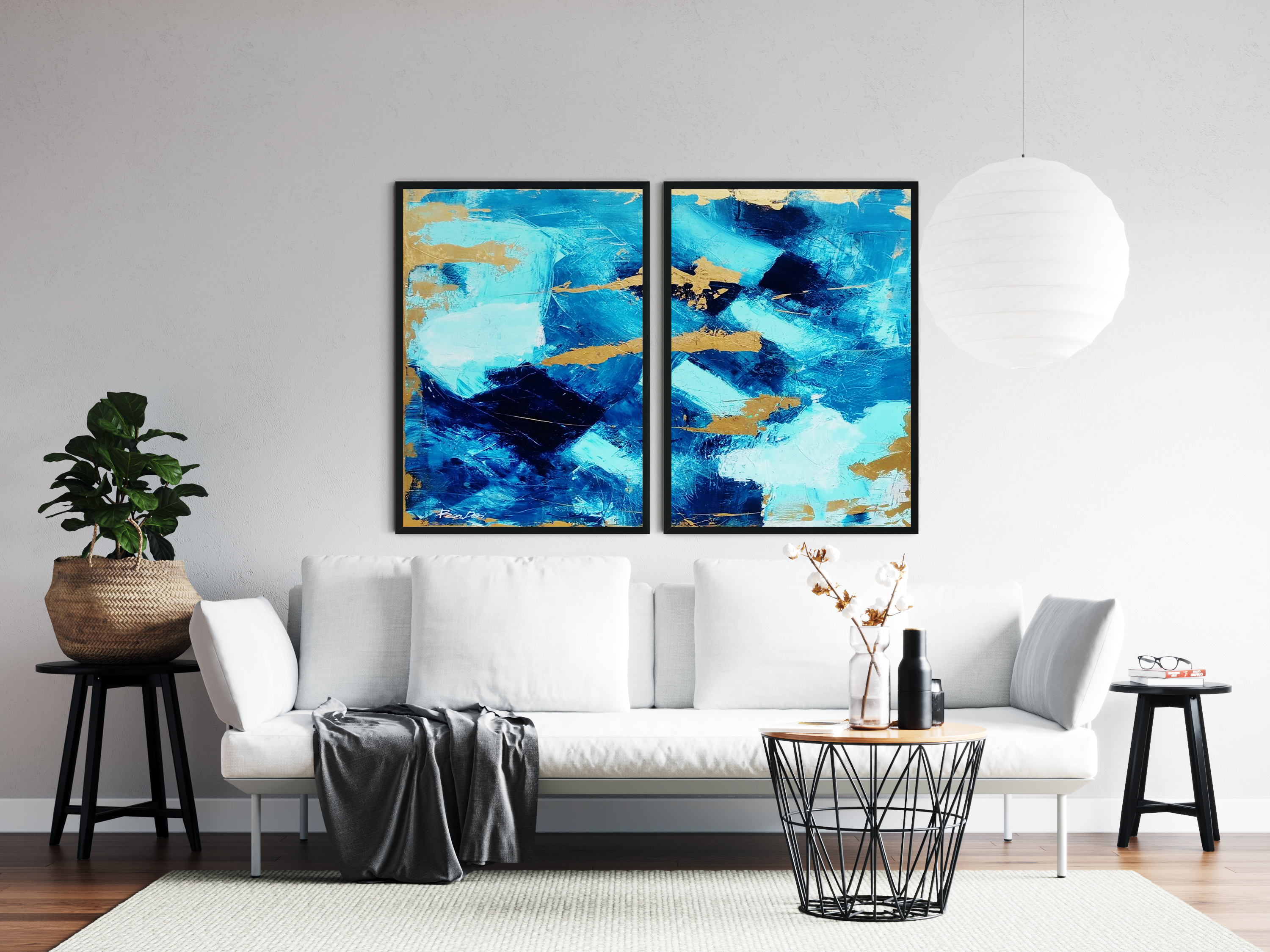 blue-skyline-paintings-set-of-2-ron-deri