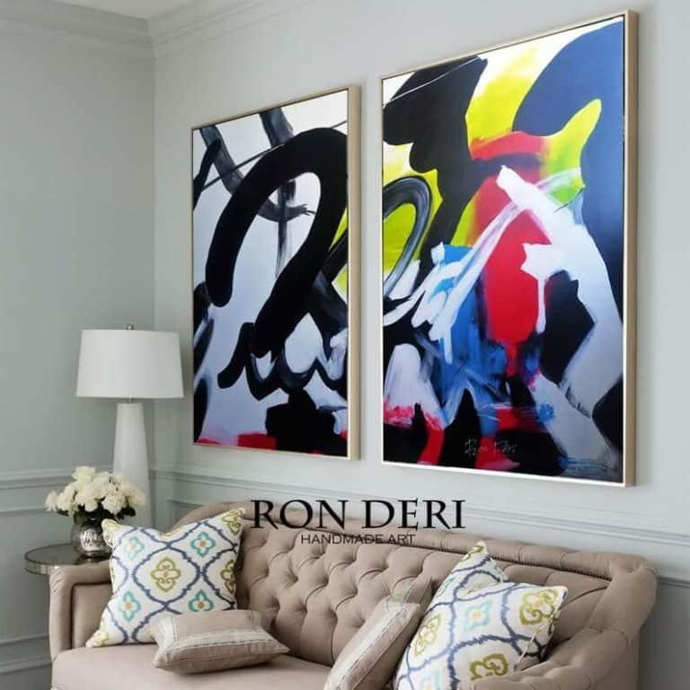 graffiti paintings set of 2 by ron deri 2