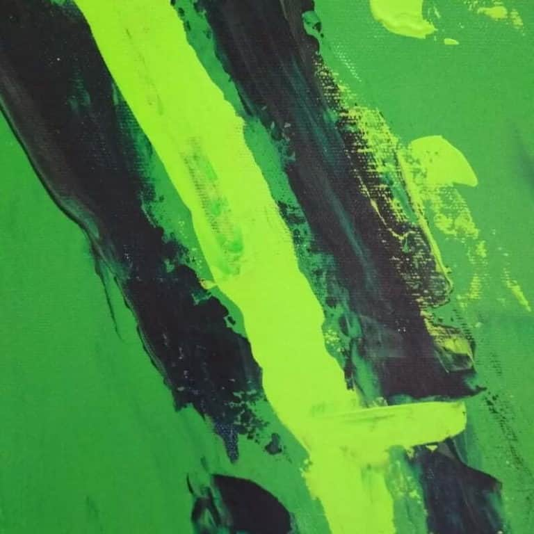 green set of 2 paintings abstract art by ron deri