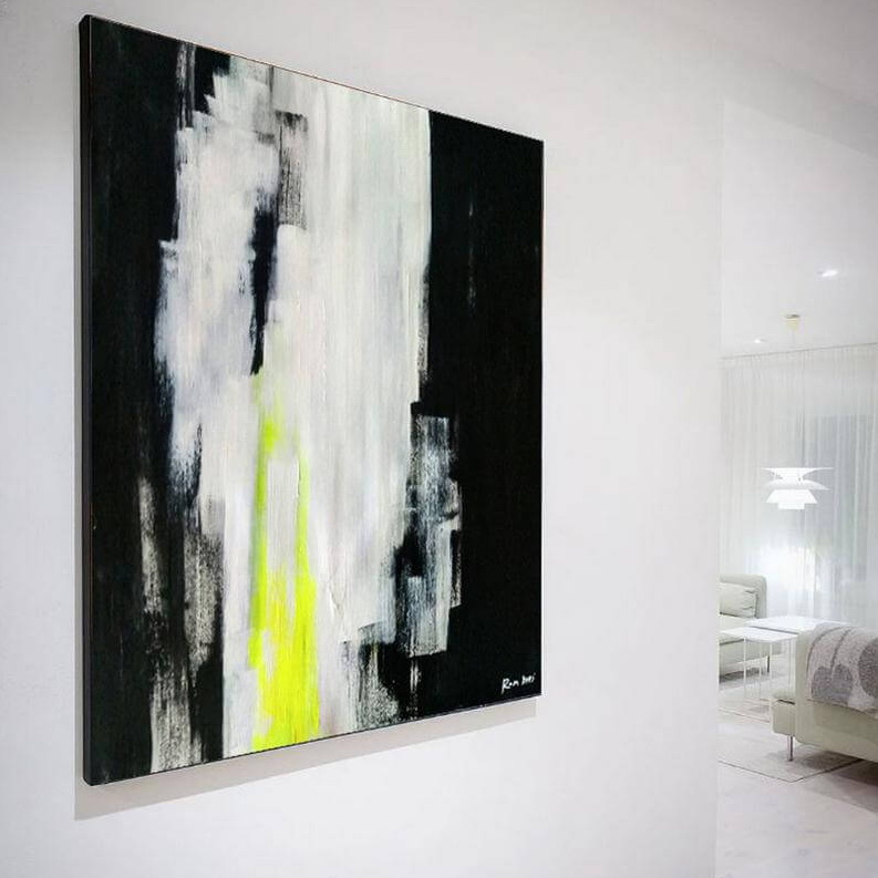 neon art painting abstract