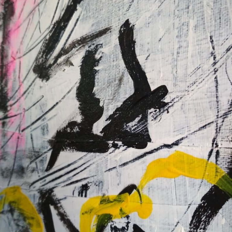 Abstract art close up - oil and acrylic on canvas