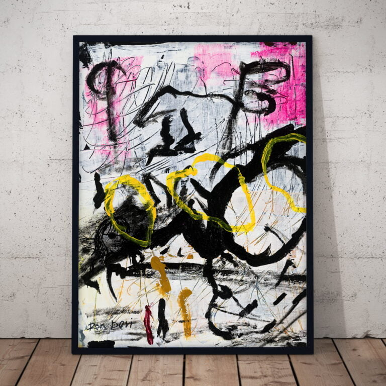 chaos abstract art print by ron  deri