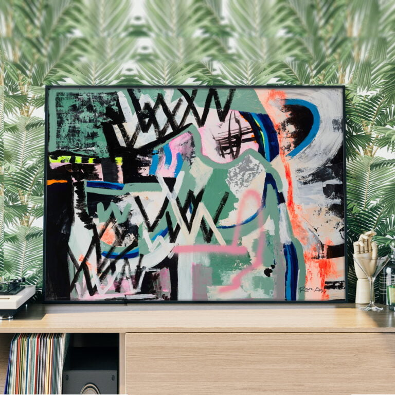 contemporary abstract art - graffiti line work