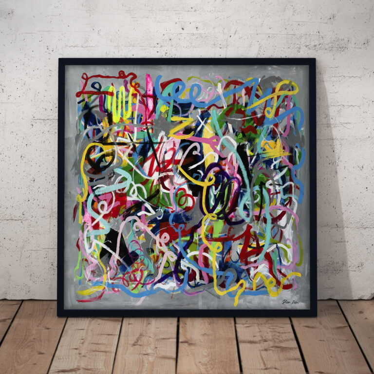 directions - abstract art print on canvas by ron deri