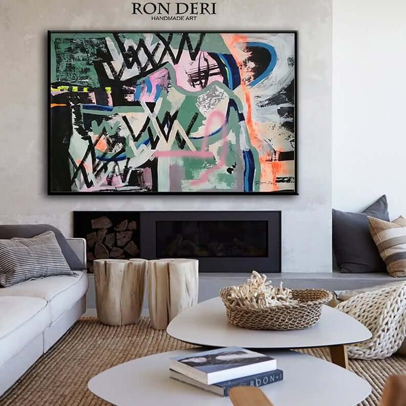 abstract line work, big wall art