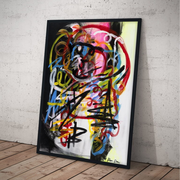 hues of strength modern contemporary abstract wall art by ron deri
