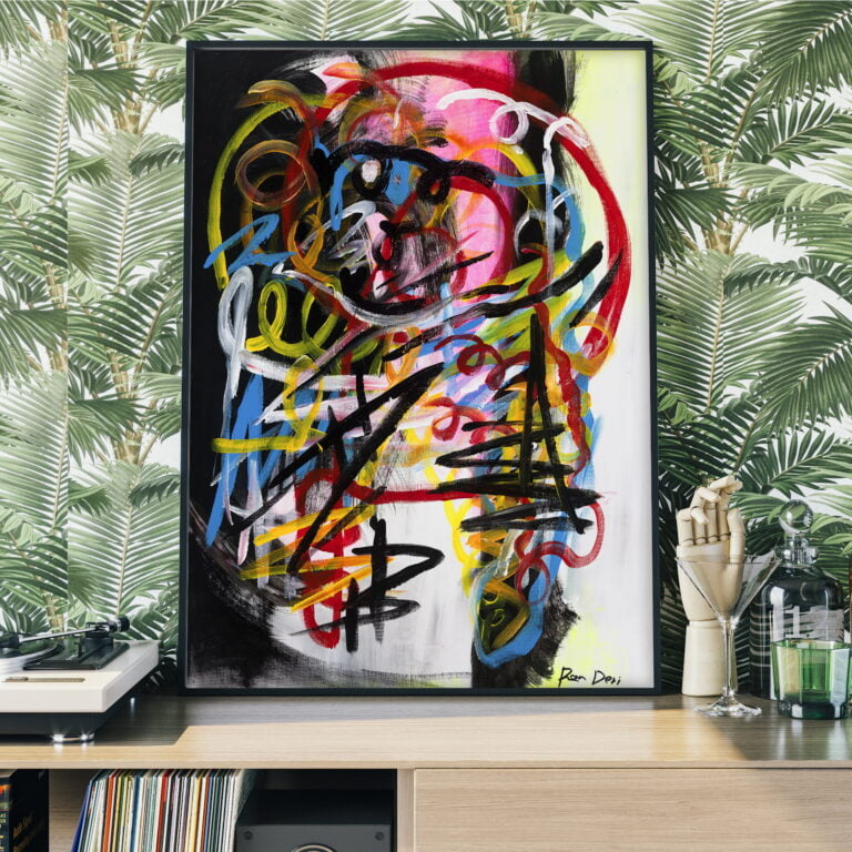 colorful lines abstract modern wall art by ron deri