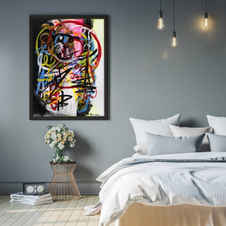 contemporary home decor abstract art high quality print by ron deri