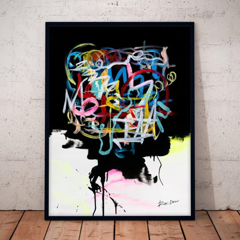 human brain abstract art print by ron deri
