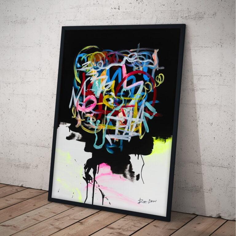 human brain modern wall art abstract line work by ron deri