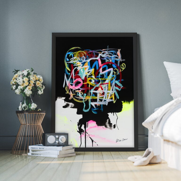 human brain colourful crazy abstract lines by ron deri