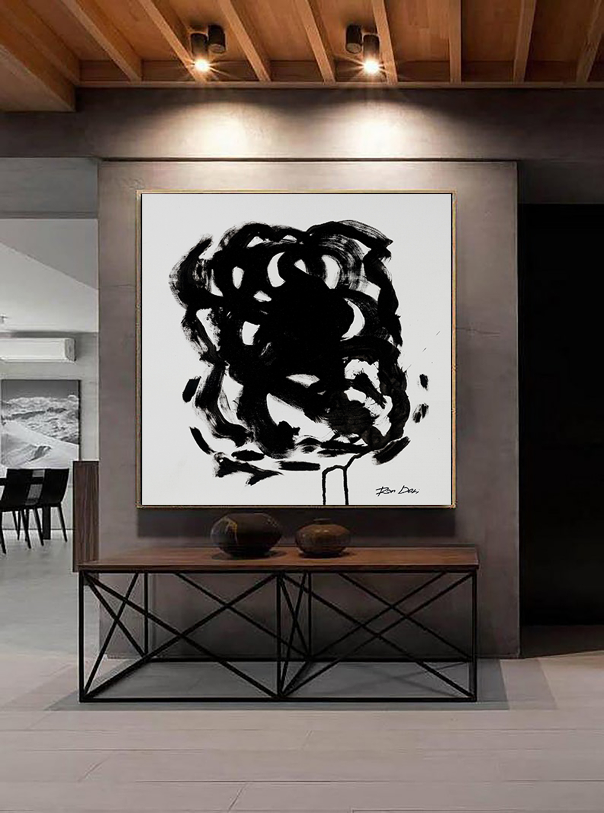 large-black-abstract-painting-print-ron-deri
