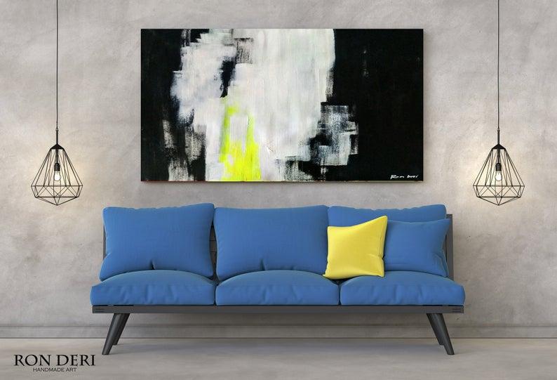 large black art painting