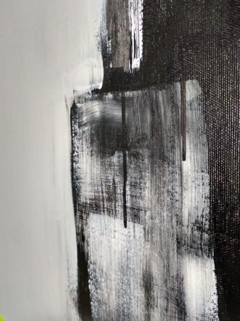 large black painting
