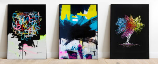 Black abstract art, Wall art, Paintings - For sale