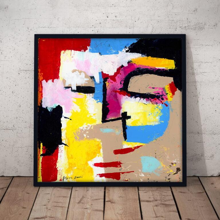 Disturbia abstract art print on canvas by Ron Deri