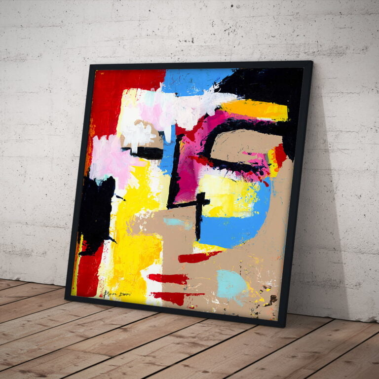 High quality abstract art print on canvas - Distubia by Ron Deri