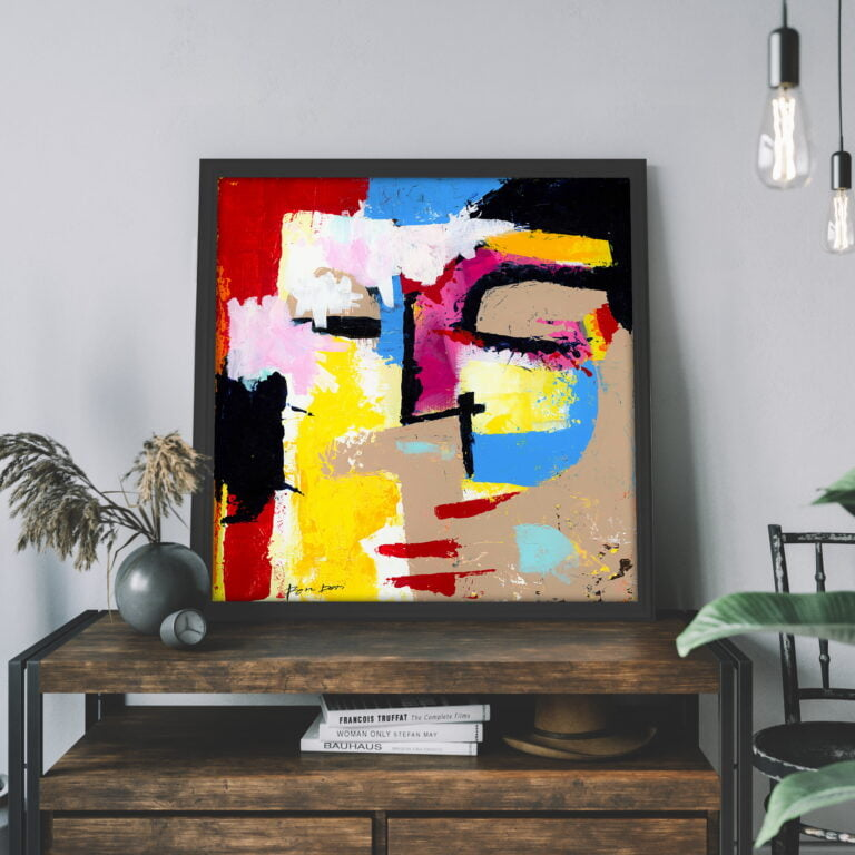 Contemporary wall art on canvas for sale by Ron Deri