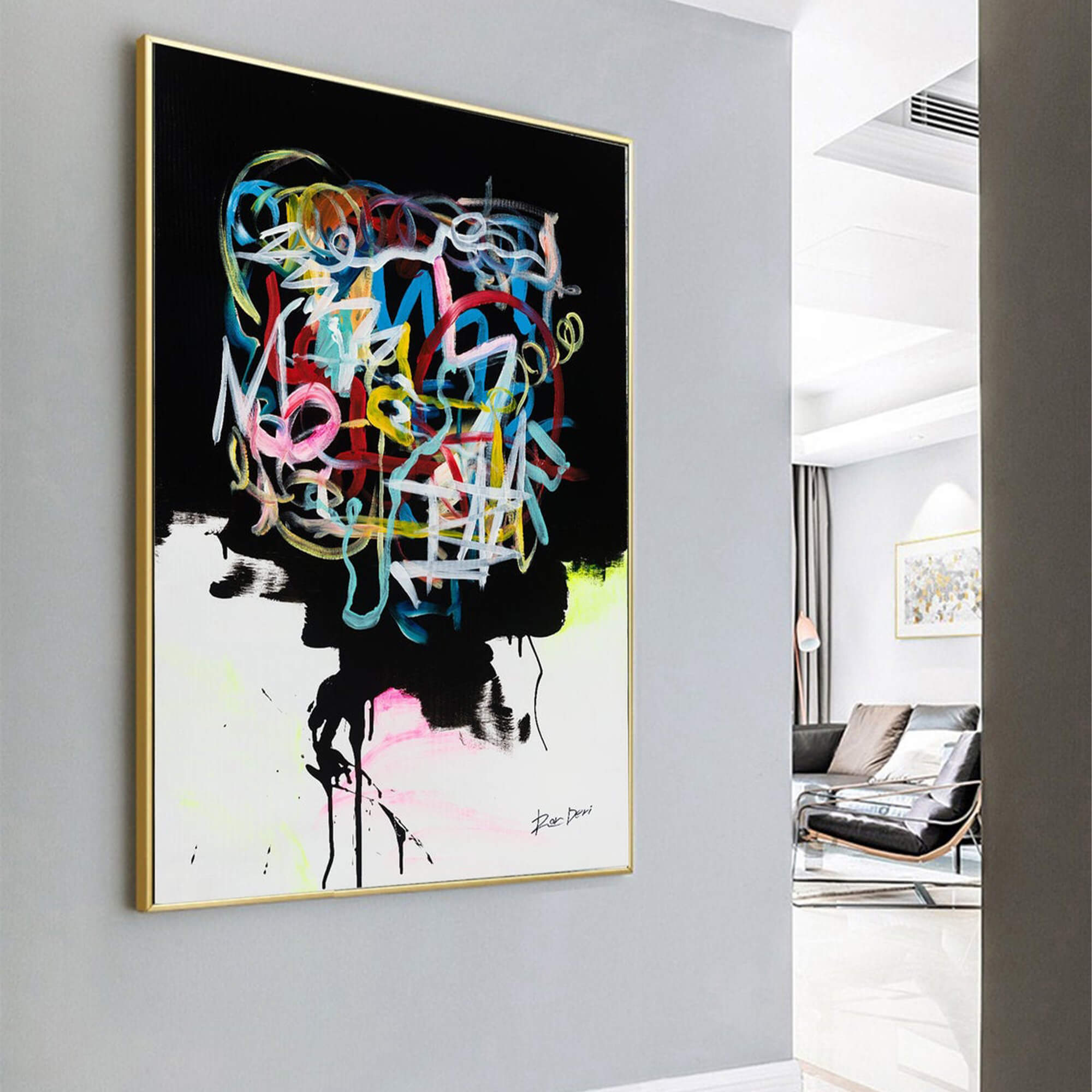 human-brain-print-black-abstract-painting-print-large-abstract-painting-on-canvas