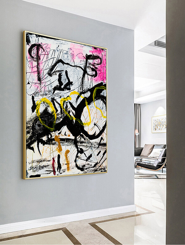 large artwork painting abstract canvas